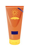 Sun protection. Vector realistic sun lotion container on white background, eps10 file, gradient mesh and transparency used Stock Images