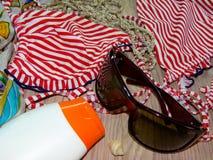 Sun protective cream, holiday Royalty Free Stock Photo