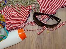 Sun protective cream, holiday Royalty Free Stock Photography