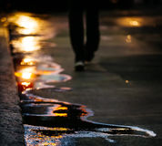 The sun in the puddles Royalty Free Stock Images