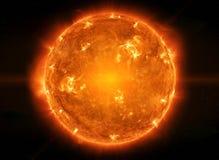 Sun puissant dans l'espace illustration stock