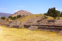 Sun pyramid IV, teotihuacan Stock Photos