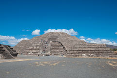 The Sun Pyramid at Teotihuacan Royalty Free Stock Photo