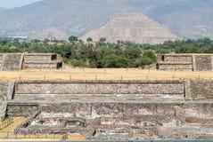 The sun pyramid at Teotihuacan en Mexico Royalty Free Stock Photos