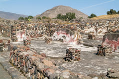 The sun pyramid at Teotihuacan en Mexico Royalty Free Stock Photography