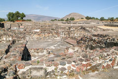 The sun pyramid at Teotihuacan en Mexico Stock Image