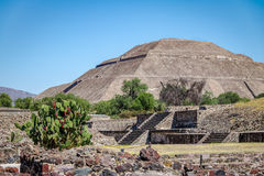 The Sun Pyramid at Teotihuacan Ruins - Mexico City, Mexico Stock Images