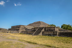 The Sun Pyramid at Teotihuacan Ruins - Mexico City, Mexico Royalty Free Stock Photo