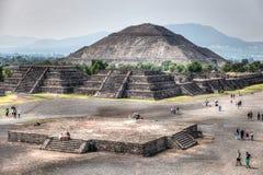 Sun Pyramid of Teotihuacan stock photos