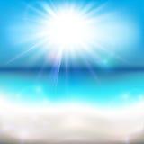 Sun que brilla sobre el océano libre illustration