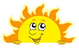 Sun que está al acecho lindo Imagenes de archivo