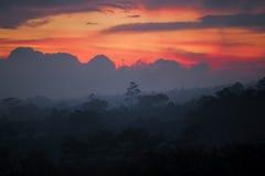 Sun que fija sobre Bali fotos de archivo libres de regalías