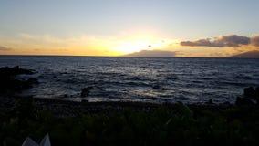 Sun que fija sobre el Pacífico Fotos de archivo libres de regalías