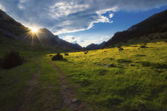 Sun que shinning no vale Foto de Stock