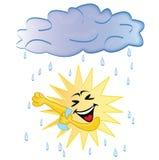 Sun que toma una ducha Foto de archivo