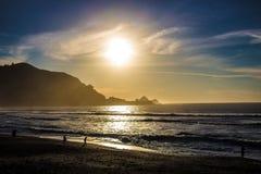 Sun que vai para baixo Imagens de Stock Royalty Free