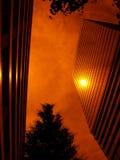 Sun-réflexion en haut de la construction Photos libres de droits