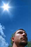 Sun radiation Stock Images
