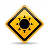 Sun radiation warning sign Royalty Free Stock Images