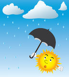 Sun and rain Royalty Free Stock Image