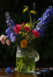 Sun after rain - colorful flowers bouquet in the garden Royalty Free Stock Photo