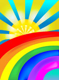 Sun rainbow Stock Photography