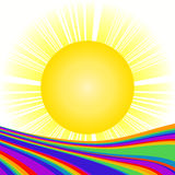 Sun and rainbow Stock Photos