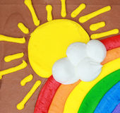 Sun and Rainbow Stock Photo