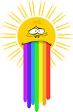Sun with rainbow Royalty Free Stock Photography