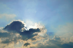 Sun ray with cloud in sky Royalty Free Stock Photos