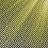 Sun ray light isolate on background vector. Transparent glow yellow sunlight effect. Realistic glare. Sun ray. Shine light texture design illustration royalty free illustration