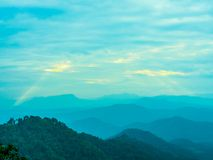The sun ray on senset time. The sun ray lying n the mountain in sunset tine look so beautiful Royalty Free Stock Image