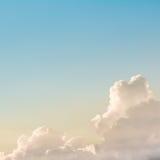 Sun ray shine through dark cloud in the sunrise sky. Royalty Free Stock Photo