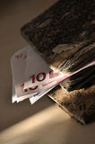 Sun Ray on Stashed Money Stock Photography
