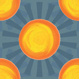 Sun ray vintage color seamless pattern Royalty Free Stock Photos