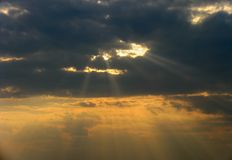 Sun rays Stock Photography