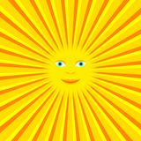 Sun with rays Royalty Free Stock Photography
