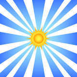 Sun and rays Royalty Free Stock Photo