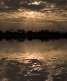 Sun Rays. Morning sun rays through clouds in Samburu Reserve, Kenya Royalty Free Stock Photo