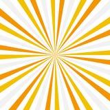 Sun rays. Abstract background. Vintage style. Orange white and yellow sun rays Stock Illustration