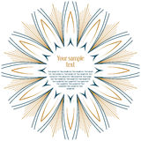 Sun rays background. Vector of sun rays background Stock Photography