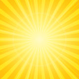 Sun with rays background Royalty Free Stock Photography