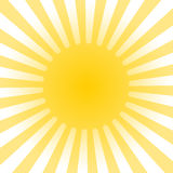 Sun rays background vector illustration. Stock sun rays icon or background - vector illustration Royalty Free Stock Images