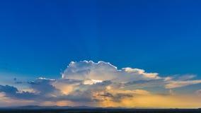 Sun rays on blue sky Stock Image