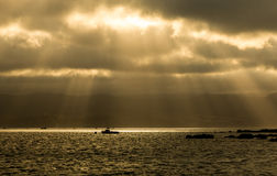 Sun Rays Boat Royalty Free Stock Photo