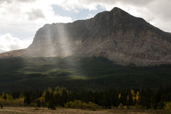 Sun Rays Break Clouds Rocky Mountains Montana Western State USA Stock Photography