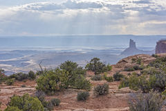 The Sun-rays Of Canyonlands National Park Stock Photography