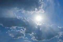 The sun rays through the cloud. S Stock Photography
