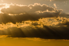 Sun rays and clouds Royalty Free Stock Photos