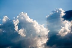 Sun rays through clouds Royalty Free Stock Photo